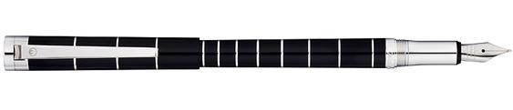 Estilográfica Waldmann Pantera Lacado Negro 0058