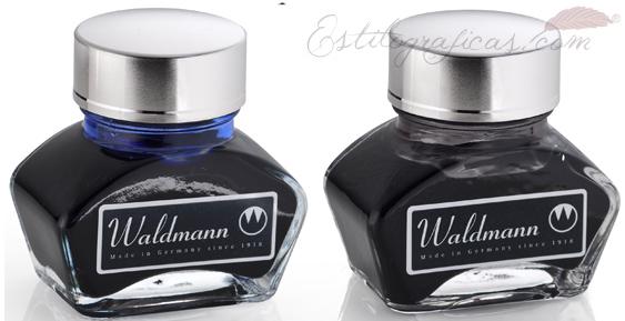 Tinteros para estilográficas Waldmann en tinta azul o negro 0123 y 0124