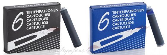 Cartuchos de tinta para plumas estilográficas Waldmann 0125 y 0126