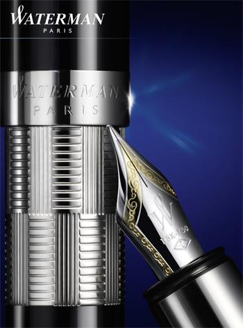 Cartel publicitario Waterman Elegance Silver Trim